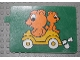 Part No: bb0257pb05  Name: Duplo Slide with Bears Pattern