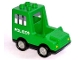 Part No: dupvan  Name: Duplo Van Paddy Wagon Type 1 with 'POLICE' Pattern
