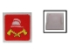 Part No: 2384pb08  Name: Electric, Light 2 x 2 Clip-On Plate with Fire Logo Pattern