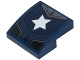 Part No: 15068pb108  Name: Slope, Curved 2 x 2 with Black and Silver Armor Plates and White Star Pattern (Sticker) - Set 76077