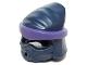Part No: 20568pb01  Name: Minifigure, Headgear Ninjago Wrap Peaked Head with Dark Purple Wrap and Knot Pattern