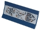Part No: 2440pb022  Name: Vehicle, Spoiler / Plow Blade 6 x 3 with Hinge with Skull with Helmet, Hammer and Shield with Metal Plates and Rivets Pattern (Sticker) - Set 70840