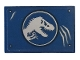 Part No: 26603pb079  Name: Tile 2 x 3 with Jurassic World Logo and Scratches Pattern (Sticker) - Set 75935
