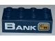 Part No: 3001pb088R  Name: Brick 2 x 4 with 'BANK' and City Bank Logo Pattern (Sticker) - Set 3661