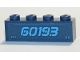 Part No: 3010pb286  Name: Brick 1 x 4 with '60193' Pattern (Sticker) - Set 60193