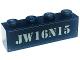 Part No: 3010pb289  Name: Brick 1 x 4 with 'JW16N15' Pattern (Sticker) - Set 75928