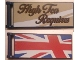 Part No: 30292pb035L  Name: Flag 7 x 3 with Rod with 'High Tea Requires' / Partial United Kingdom Flag (Union Jack) Pattern Model Left Front Side (Stickers) - Set 10258