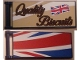 Part No: 30292pb037L  Name: Flag 7 x 3 with Rod with 'Quality Biscuits' / Partial United Kingdom Flag (Union Jack) Pattern Model Left Back Side (Stickers) - Set 10258
