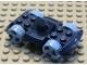 Part No: 30558c05  Name: Vehicle, Base 4 x 6 Racer Base with Medium Blue Wheels