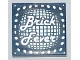 Part No: 3068bpb0341  Name: Tile 2 x 2 with Groove with Silver 'Brick Fever' and Lights Pattern