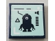 Part No: 3068bpb1446  Name: Tile 2 x 2 with Groove with Minion Stuart and Volume Meter Pattern (Sticker) - Set 75551