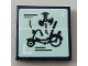 Part No: 3068bpb1448  Name: Tile 2 x 2 with Groove with Bike and Fan Pattern (Sticker) - Set 75551
