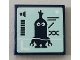 Part No: 3068bpb1449  Name: Tile 2 x 2 with Groove with Minion Kevin and Volume Meter Pattern (Sticker) - Set 75551