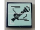 Part No: 3068bpb1450  Name: Tile 2 x 2 with Groove with Prout Launcher Rifle Pattern (Sticker) - Set 75551