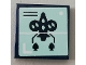 Part No: 3068bpb1451  Name: Tile 2 x 2 with Groove with Rocket Pattern (Sticker) - Set 75551