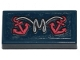 Part No: 3069bpb0729  Name: Tile 1 x 2 with Groove with White Rope and 2 Pink Anchors Pattern (Sticker) - Set 70419