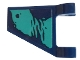 Part No: 44676pb054L  Name: Flag 2 x 2 Trapezoid with Dark Turquoise Splotches Pattern Model Left Side (Sticker) - Set 76101