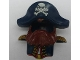 Part No: 54062pb02  Name: Duplo Wear Head Cover, Shirt with Reddish Brown Beard and Dark Blue Hat with Skull and Crossbones Pattern
