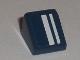 Part No: 54200pb012R  Name: Slope 30 1 x 1 x 2/3 with White Stripes Pattern Model Right (Sticker) - Set 8194
