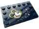 Part No: 6180pb138  Name: Tile, Modified 4 x 6 with Studs on Edges with Mickey Mouse and Stars Pattern (Sticker) - Set 43179