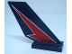 Part No: 6239pb086L  Name: Tail Shuttle with Red Lightning on Dark Blue Background Pattern Model Left Side (Sticker) - Set 60177