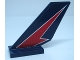 Part No: 6239pb086R  Name: Tail Shuttle with Red Lightning on Dark Blue Background Pattern Model Right Side (Sticker) - Set 60177