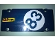 Part No: 64782pb021L  Name: Technic, Panel Plate 5 x 11 x 1 with 'C U LATER TURBOS' and '83' in White Circle Pattern Model Left Side (Stickers) - Set 41999