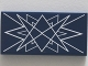 Part No: 87079pb0141  Name: Tile 2 x 4 with White Symmetrical Lines on Transparent Background Pattern (Sticker) - Set 10237
