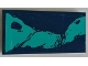Part No: 87079pb0840R  Name: Tile 2 x 4 with Dark Azure Splotches Pattern Model Right Side (Sticker) - Set 76101