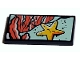 Part No: 87079pb1005  Name: Tile 2 x 4 with Yellow Starfish and Coral Seaweed Pattern (Sticker) - Set 41380