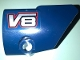 Part No: 87086pb040  Name: Technic, Panel Fairing # 2 Small Smooth Short, Side B with 'V8' Pattern (Sticker) - Set 41999