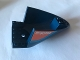 Part No: 87616pb010  Name: Aircraft Fuselage Aft Section Curved Bottom 6 x 10 with Dark Azure Stripe and Orange Triangle With 'RK60193' and 'Fuel' Pattern on Both Sides (Stickers) - Set 60193