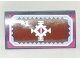 Part No: 88930pb060  Name: Slope, Curved 2 x 4 x 2/3 with Bottom Tubes with White Geometric Decoration and Light Blue and Magenta Border Pattern (Sticker) - Set 41066