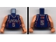 Part No: 973bpb132c01  Name: Torso NBA New Jersey Nets #5 Pattern / Flesh NBA Arms