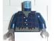 Part No: 973pb0085c01  Name: Torso Studios Plaid Button Shirt Ripped Pattern (Werewolf) / Dark Blue Arms / Dark Gray Hands