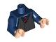 Part No: 973pb0491c01  Name: Torso Speed Racer Dark Bluish Gray Pinstripe Vest and Red Tie Pattern / Dark Blue Arms / Light Nougat Hands