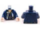 Part No: 973pb0894c01  Name: Torso PotC Officer's Coat with Gold Buttons and Brown Belt Pattern / Dark Blue Arms / Light Flesh Hands