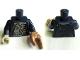 Part No: 973pb0972c01  Name: Torso PotC Jacket over Barnacle Encrusted Shirt Pattern / Dark Blue Arms / Tan Hand Right / Medium Nougat Hand Crab Pincer Left