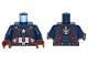 Part No: 973pb1956c01  Name: Torso Armor with Silver Star on Chest and Red, White and Reddish Brown Harness Pattern / Dark Blue Arms / Reddish Brown Hands