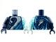 Part No: 973pb4325c01  Name: Torso White, Metallic Light Blue, Dark Azure Wave Pattern / Trans-Light Blue Arm Left / Dark Blue Arm Right / Light Aqua Hand Left / Dark Blue Hand Right