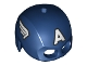 Part No: bb0889pb01  Name: Minifigure, Headgear Helmet Mask, Hole on Top with White Letter A and Wings on Sides Pattern (Captain America)