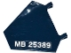 Part No: x1435pb012L  Name: Flag 5 x 6 Hexagonal with 'MB 25389' Pattern Model Left Side (Sticker) - Set 76032