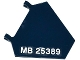 Part No: x1435pb012R  Name: Flag 5 x 6 Hexagonal with 'MB 25389' Pattern Model Right Side (Sticker) - Set 76032