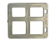 Part No: 2206  Name: Duplo Door / Window with Four Panes Square Corners