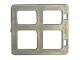 Part No: 2206  Name: Duplo Door / Window Pane with Four Panes Square Corners