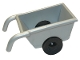 Part No: 2292c02  Name: Duplo Wheelbarrow with Thin Black Wheels
