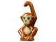 Part No: 14736pb01  Name: Monkey / Orangutan, Friends, Baby with Bright Green Eyes, Black Nose and Dark Tan Face and Stomach Pattern