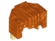 Part No: 15557pb01  Name: Minifigure, Hair Trapezoid Swept Back with Tan Ends Pattern
