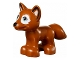 Part No: 19532pb02  Name: Fox, Friends / Elves with Black Nose, Sand Green Eyes and White around Eyes and on Tail Pattern