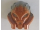 Part No: 24157pb01  Name: Bionicle Mask of Stone (Unity) with Marbled Flat Silver Pattern